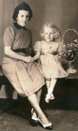 1930s photo of my mum's cousin, Marlene, in her party frock.
