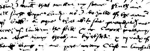 An example of early handwriting to be transcribed into modern English.