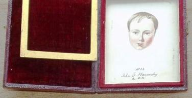 Date and signature DM on portrait of John Maconchy