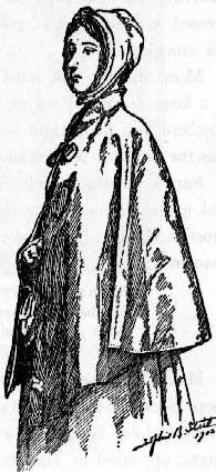 drawing of a quaker girl
