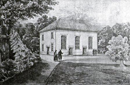 Print of Tivetshall Meeting House from Family History